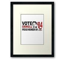 Vote Orwell Framed Print