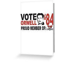 Vote Orwell Greeting Card
