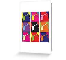 Pop Art Jockstrap Nine Greeting Card