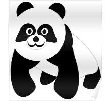 Black And White Panda Bear Poster