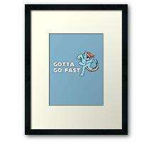 My Little Pony - MLP - Rainbow Dash - Gotta Go Fast Framed Print
