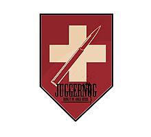 Juggernog logo; Bring it on, Ankle-biters! Photographic Print