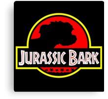 Jurassic Bark - Futurama / Jurassic Park Crossover Parody Canvas Print