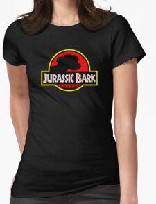 Jurassic Bark - Futurama / Jurassic Park Crossover Parody Womens Fitted T-Shirt