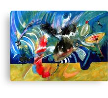 Insects and Birds Canvas Print