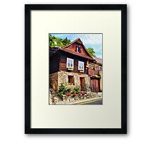 House by the road Framed Print