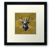 The Crowned Stag Framed Print