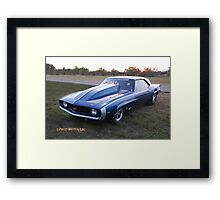 Mow Money Racing Framed Print