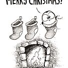 3 Christmas Stockings, 1 Fat Penguin! by afatpenguinshop