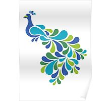 Abstract Peacock Poster
