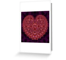 Crazy Love Fractal Greeting Card