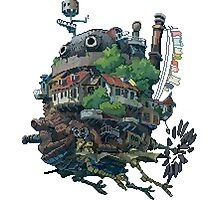 8bit Howl's Moving Castle Photographic Print