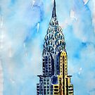 Solitary View Of Chrysler Building New York City by artshop77