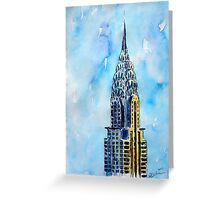 Solitary View Of Chrysler Building New York City Greeting Card