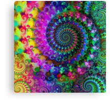 Psychedelic Rainbow Crazy Fractal Pattern Canvas Print