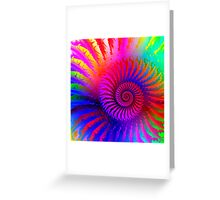 Psychedelic Spiral Fractal Greeting Card