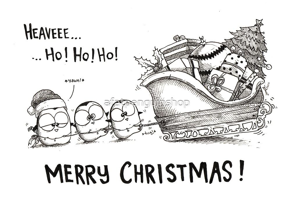 Heave Ho Ho Ho - Merry Christmas! by afatpenguinshop