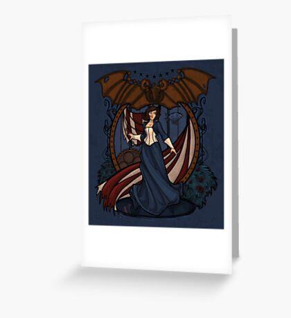 Elizabeth Nouveau Greeting Card