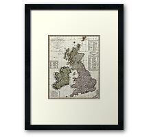 Antique Map of the British Isles Framed Print