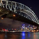 Night Falls over Sydney by Sharon Kavanagh