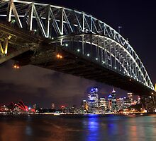 Night Falls over Sydney by Sharon Kavanagh
