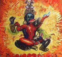 Chakrasamvara and Vajravahi  by Ti Campbell-Allen