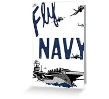 Fly Navy Greeting Card