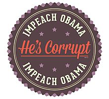 Impeach Obama Photographic Print
