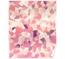 Mod Geometric Abstract Pattern Pink Retro Pastel Poster