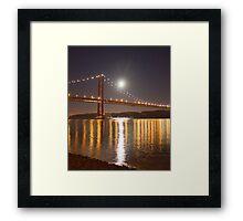 Lua cheia. Lisbon. Full moon. Framed Print