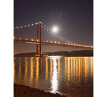 Lua cheia. Lisbon. Full moon. Photographic Print