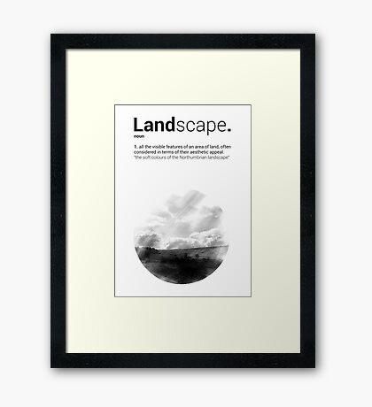 Luke Roberts / Landscape / Cross Hatch Framed Print