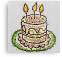 Fruit & Vegetable Birthday Cake Metal Print