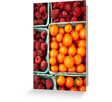 Tomatos and Berries Greeting Card