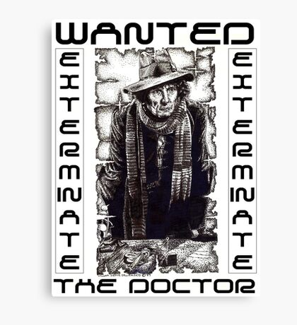 Wanted - The Doctor Canvas Print