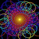 Borromean Ring Spiral Chain by Leah McNeir