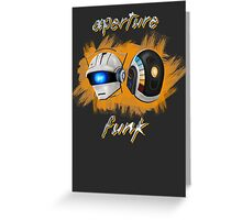 Aperture Funk - Orange Greeting Card