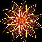 Fractal Flower Red  by Leah McNeir