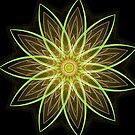 Fractal Flower Yellow  by Leah McNeir