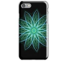 Fractal Flower Green iPhone Case/Skin