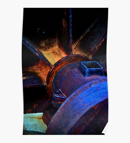 Artistic Old Mining Equipment Poster