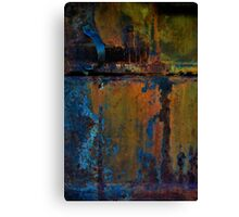 Artistic Rustic Old Mining Machine Canvas Print
