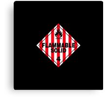 Flammable Solid Black Canvas Print