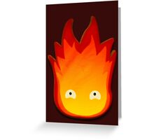 Calcifer! Howls moving castle. Greeting Card