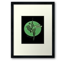 Night Vision Pin Up Framed Print