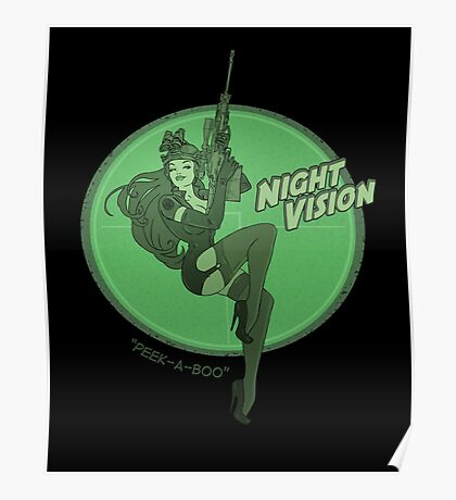 Night Vision Pin Up Poster