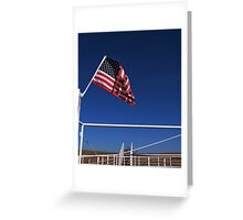 Patriot on the Prairie Greeting Card