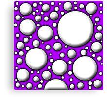 Purple Mushroom Design Canvas Print