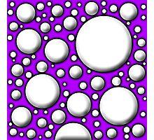Purple Mushroom Design Photographic Print