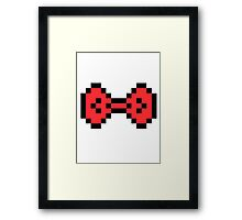 Red Pixel Bow Framed Print